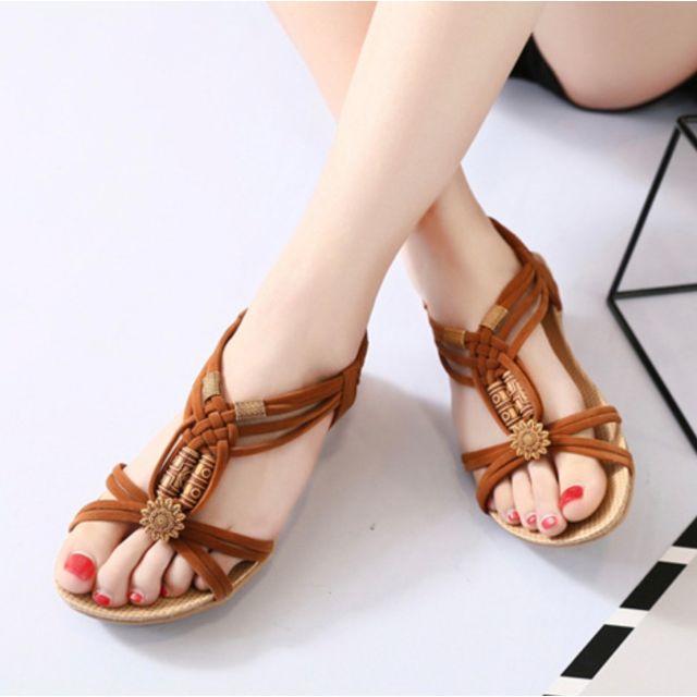 夏のボヘミアタイプ優雅なレデイースサンダル レディースの靴/シューズ(サンダル)の商品写真