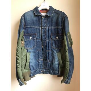 サカイ(sacai)のsacai サカイ19AW新品デニムMA-1ドッキングジャケット サイズ1(ブルゾン)