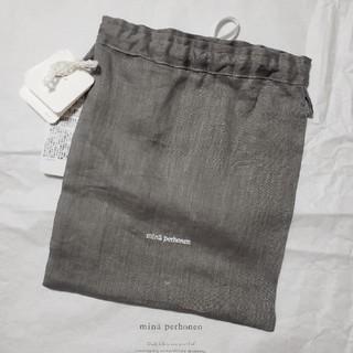 ミナペルホネン(mina perhonen)のミナペルホネン 巾着 グレー(ポーチ)