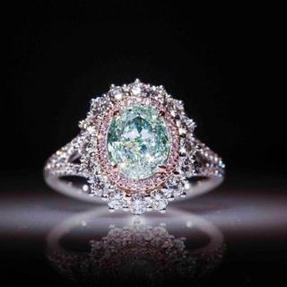 レディースピンクサファイアダイヤリング(リング(指輪))