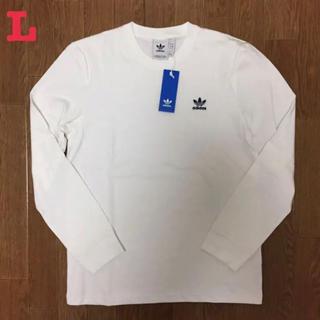 adidas - アディダス オリジナルス トレフォイルロゴ ワッペン 長袖 Tシャツ 白 L