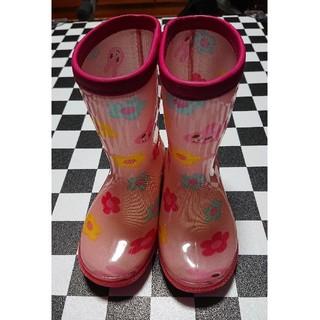 ミキハウス(mikihouse)のミキハウス MIKI HOUSE  長靴  ピンクウサギ柄  14cm(長靴/レインシューズ)