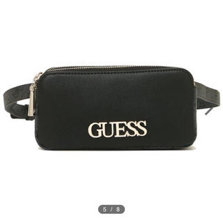 ゲス(GUESS)の ゲス ウエストバッグ レディース GUESS  ブラック(ボディバッグ/ウエストポーチ)
