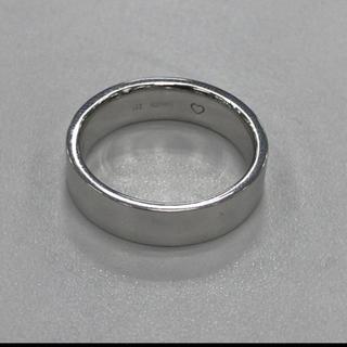 美品 9.4g K18WG 平打ち リング 17号(リング(指輪))