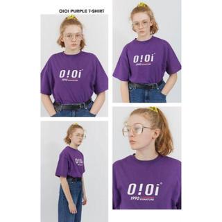 oioi 紫 Tシャツ Lサイズ パープル 大人気(Tシャツ(半袖/袖なし))