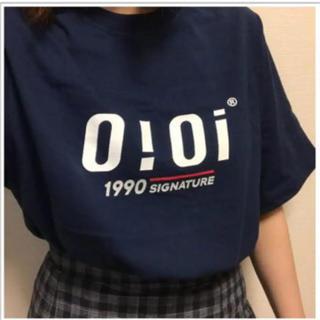 oioi 黒 Tシャツ Lサイズ ネイビー 大人気(Tシャツ(半袖/袖なし))