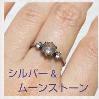 ムーンストーンリング☆シルバー925☆15号☆送料込み(リング(指輪))