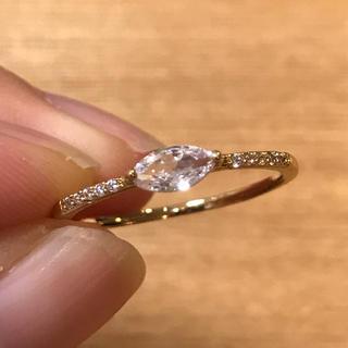 リング 指輪 CZ ダイヤ マーキス クリスタル 18号 アガット 好き♡(リング(指輪))