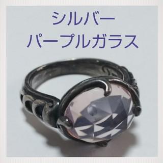 パープルガラスリング☆シルバー☆送料込み(リング(指輪))