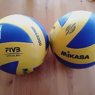 ミカサ(MIKASA)のMIKASAバレーボール🏐練習用✨2球✨値下げ(꒪˙꒳˙꒪ )✨(バレーボール)