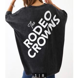 ロデオクラウンズワイドボウル(RODEO CROWNS WIDE BOWL)のロデオ★ 加工ニット ワンピース/ブラック(ミニワンピース)