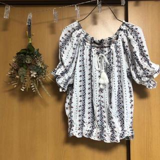 シマムラ(しまむら)の⌘エスニック ホワイト(シャツ/ブラウス(半袖/袖なし))