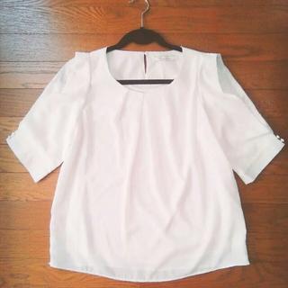 シマムラ(しまむら)の⌘レース ホワイト(シャツ/ブラウス(半袖/袖なし))