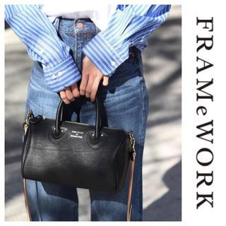 フレームワーク(FRAMeWORK)のFRAMeWORK young&olsen ミニボストン ブラック(ショルダーバッグ)