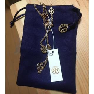 トリーバーチ(Tory Burch)のトリーバーチ ゴールドネックレス 増税前セール 正規品新品 専用袋付き(ネックレス)