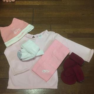 コムサイズム(COMME CA ISM)の新生児  帽子 手袋 靴下 タオル トップス(その他)