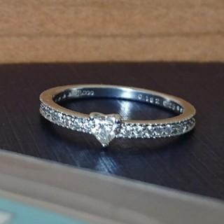 ハートシェイプ ダイヤモンド pt900 リング ソーティング付(リング(指輪))