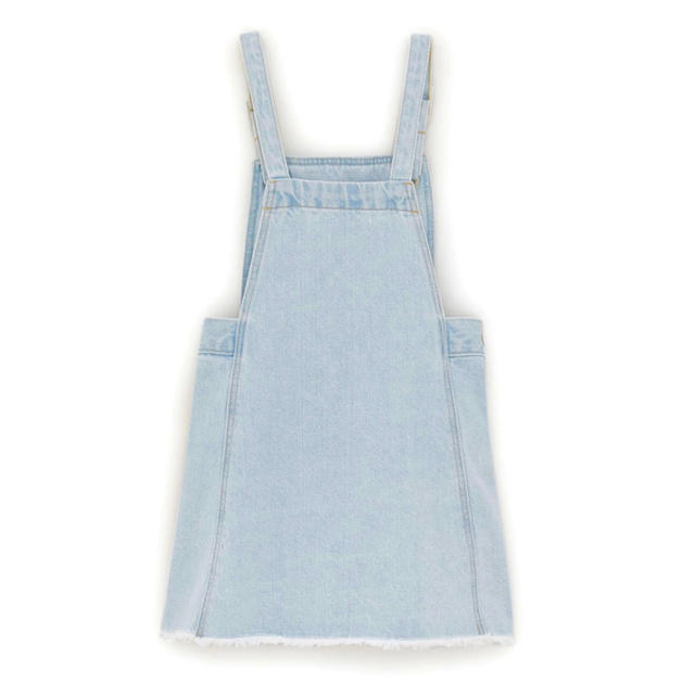 ZARA KIDS(ザラキッズ)の新品未使用 ZARA kids デニム ジャンパースカート 100 110 キッズ/ベビー/マタニティのキッズ服 女の子用(90cm~)(ワンピース)の商品写真