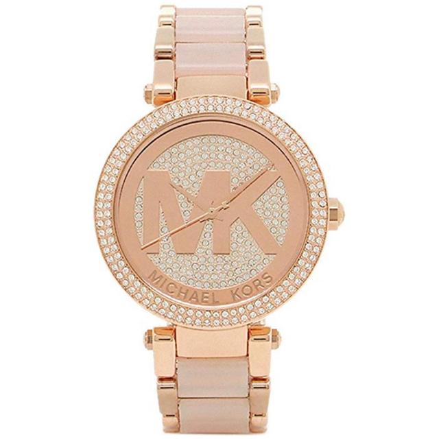 Michael Kors - 【即納】マイケルコース 腕時計 MK6176 ローズゴールド ピンク クリスタルの通販 by エミュー's shop|マイケルコースならラクマ