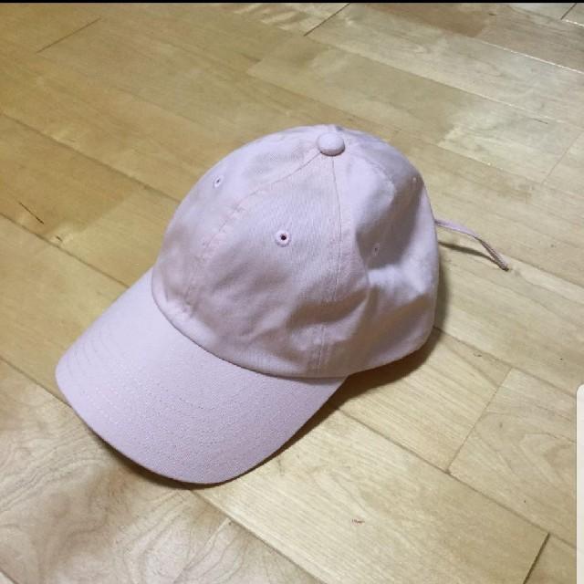 GU(ジーユー)のGU レースアップキャップ ピンク レディースの帽子(キャップ)の商品写真