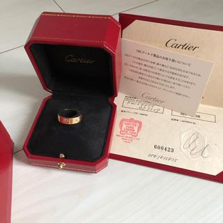 カルティエ(Cartier)のカルティエ  ラブリング ピンクゴールド ピンクサファイア  53号 13号(リング(指輪))