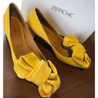 ピッピ(Pippi)のPIPPICHIC/定価¥34560 スエードリボンパンプス 23.5(ハイヒール/パンプス)