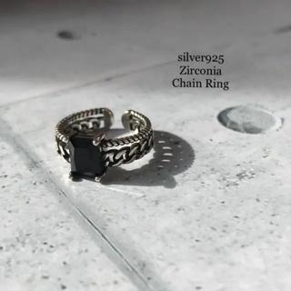 ✧・:* 【再入荷】silver925 デザイン チェーンリング(リング(指輪))
