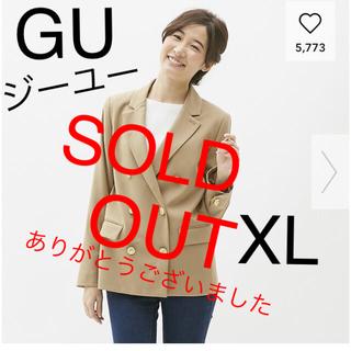 ジーユー(GU)の[新品]GU ジーユー ダブルブレストジャケット XL[未使用](テーラードジャケット)