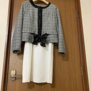 イオン(AEON)のノーカラーツィードジャケット、AEONイオン七五三、結婚式卒業式ジャケット7号(ノーカラージャケット)