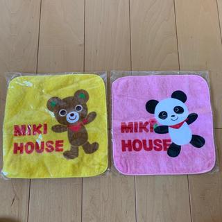 ミキハウス(mikihouse)の【新品】ミキハウス ミニタオル ハンカチ 2枚セット(その他)