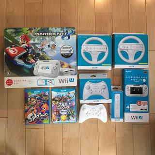 ウィーユー(Wii U)のNintendo Wii U 本体 32GB マリオカート8 + ソフト2点他(家庭用ゲーム機本体)