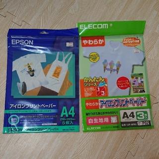 エプソン(EPSON)のアイロンプリントペーパー 2種類★EPSON ELECOM オリジナルTシャツ(その他)