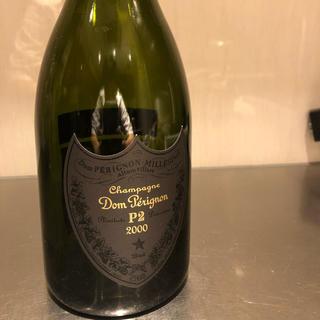 ドンペリニヨン(Dom Pérignon)のドンペリ P2 2000 空き瓶 化粧箱、布袋つき。(シャンパン/スパークリングワイン)