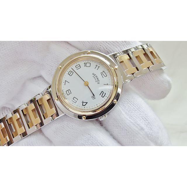 Hermes - HERMES エルメス クリッパー  クオーツ腕時計 電池新品 B2200メの通販 by hana|エルメスならラクマ