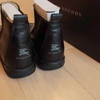 バーバリー(BURBERRY)の美品 正規店購入 BURBERRY バーバリー サイドゴアブーツ(ブーツ)