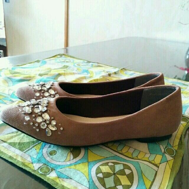 vanitybeauty(バニティービューティー)の♥美品♥バニティービューティービジューフラットパンプス♥22.5cm♥ レディースの靴/シューズ(ハイヒール/パンプス)の商品写真
