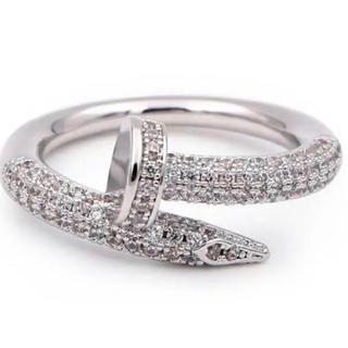釘リング pinkgold plating cz diamond ring(リング(指輪))