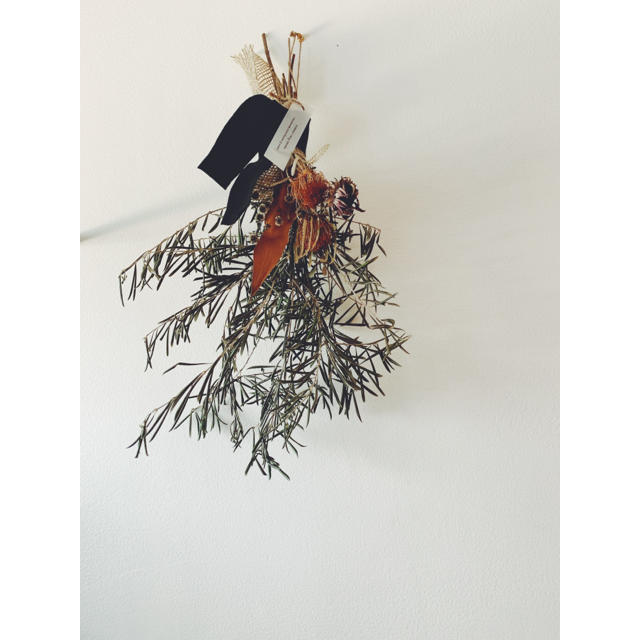 ワイルドフラワーのオリーブスワッグ ハンドメイドのフラワー/ガーデン(ドライフラワー)の商品写真