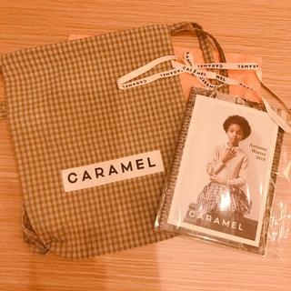 キャラメルベビー&チャイルド(Caramel baby&child )のCARAMEL リュックサック ブラウンチェック(リュックサック)