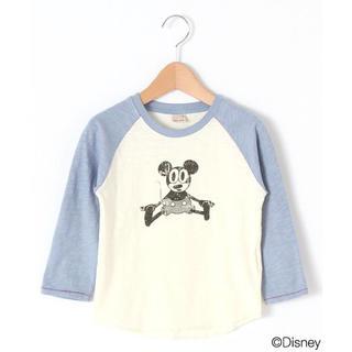 プティマイン(petit main)の今から着れる!petitmain(プティマイン)ミッキーラグランT 長袖 110(Tシャツ/カットソー)