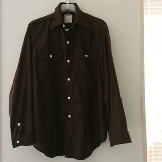 マディソンブルー(MADISONBLUE)のマディソンブルー ハンプトンシャツライトモールスキン 茶色 サイズ01(シャツ/ブラウス(長袖/七分))