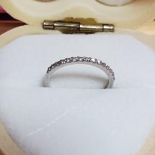 ヨンドシー(4℃)の4℃ ダイヤモンド ハーフエタニティ リング Pt950  (リング(指輪))