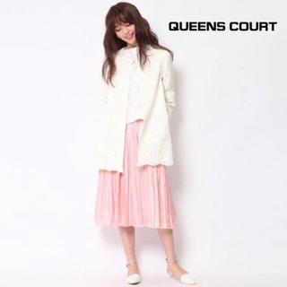 クイーンズコート(QUEENS COURT)の【QUEENS COURT】シャイニープリーツスカート M (ロングスカート)