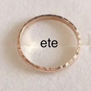 エテ(ete)のete K10YG イエローゴールド / K10YG ダイヤモンドネックレス (リング(指輪))
