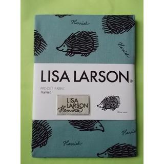 リサラーソン(Lisa Larson)のLisa Larson 手芸用生地 Harriet アクアブルー地・黒ハリネズミ(生地/糸)