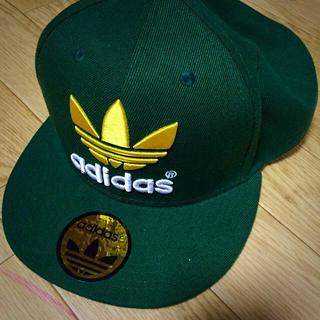アディダス(adidas)のadidas 緑 キャップ(キャップ)