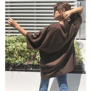 アメリヴィンテージ(Ameri VINTAGE)の新品未開封【amail】AM OVER CLOTH ブラウン(Tシャツ(半袖/袖なし))