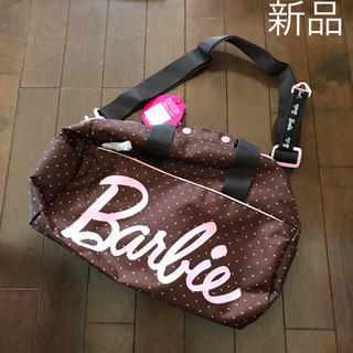 バービー(Barbie)の新品 バービー ミニ ボストンバッグ ショルダーバッグ ブラウン ドット(ショルダーバッグ)