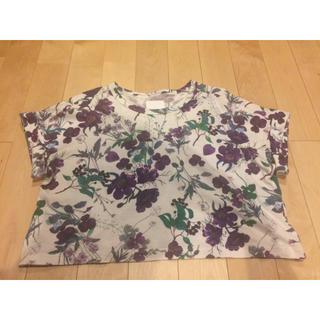 マメ(mame)のmame☆花柄Tシャツ(Tシャツ(半袖/袖なし))