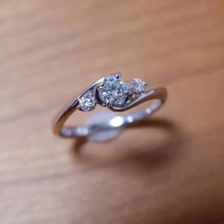 ブルーリバー Pt950 ダイヤモンド 0.197ct 0.07ct リング(リング(指輪))